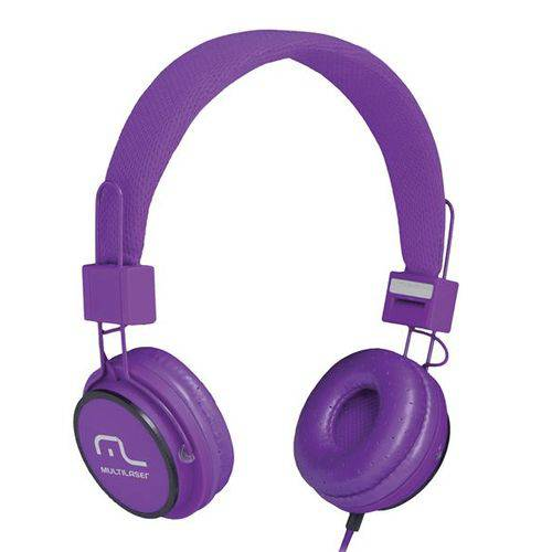 Headphone Head Fun com Microfone P2 3,5mm Hi-Fi Roxo - Multilaser - PH090