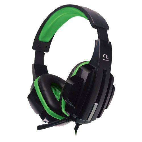Headset Gamer Multilaser P2 Preto e Verde - PH123