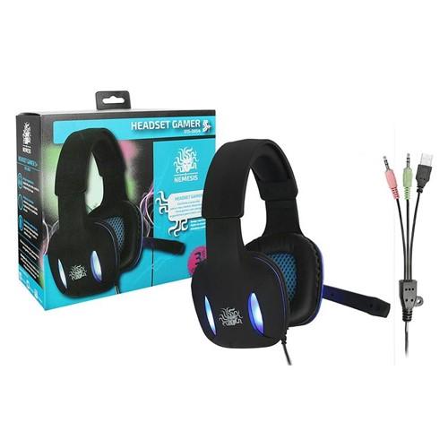 Tudo sobre 'Headset Gamer Nemesis Preto com Luz de Led Azul Nm-2190'
