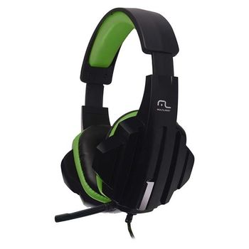 Headset Gamer P2 Cabo de Nylon Preto/Verde Multilaser - PH123 PH123