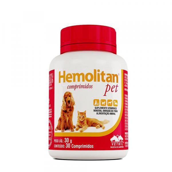Hemolitan Pet para Cães Vetnil 30 Comprimidos