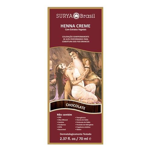 Henna Creme Surya Brasil Chocolate Kit