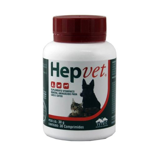 Hepvet Suplemento para Cães e Gatos 30 Comprimidos - Vetnil