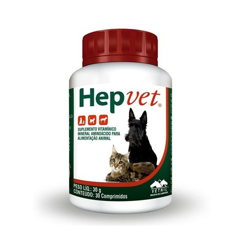 Hepvet Vetnil com 30 Comprimidos
