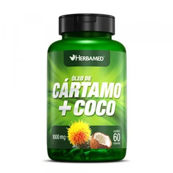 Herbamed Óleo de Cártamo + Coco - 60 Caps