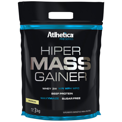 Hiper Mass Gainer Pro Series 3Kg Refil Baunilha - Atlhetica