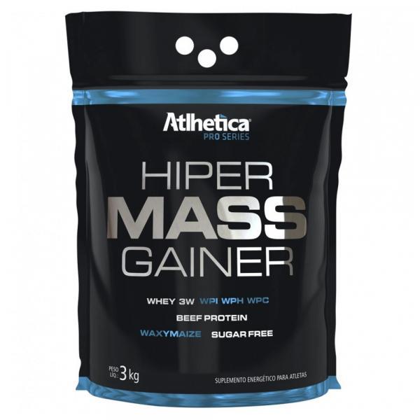 Hiper Mass Gainer Pro Series 3kg - Sabor Baunilha - Atlhetic - Atlhetica Nutrition