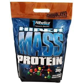 Hipercalórico Hiper Mass Protein - Atlhetica - 3kg- Baunilha