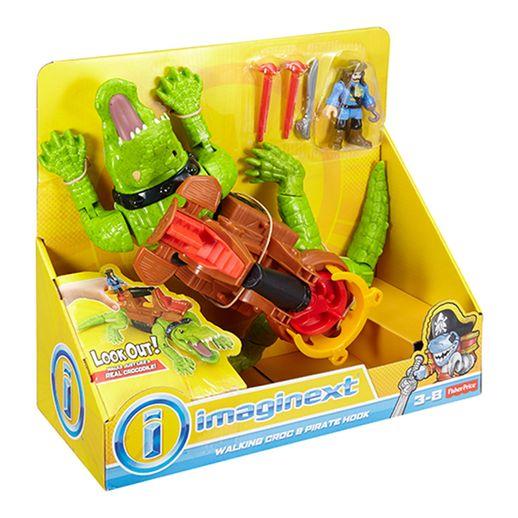 Tudo sobre 'Imaginext Crocodilo e Pirata - Mattel'