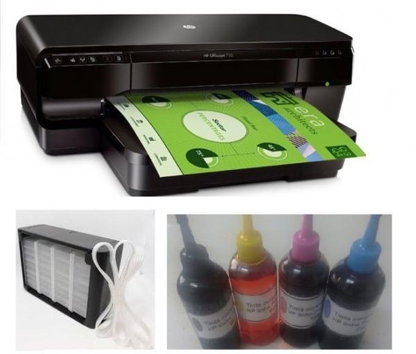 Impressora HP Officejet 7110 Wide (A3) com Bulk Instalado