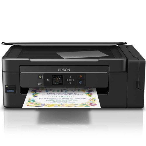 Impressora Multifuncional Epson Ecotank L495 Jato de Tinta Colorida Wireless Bivolt