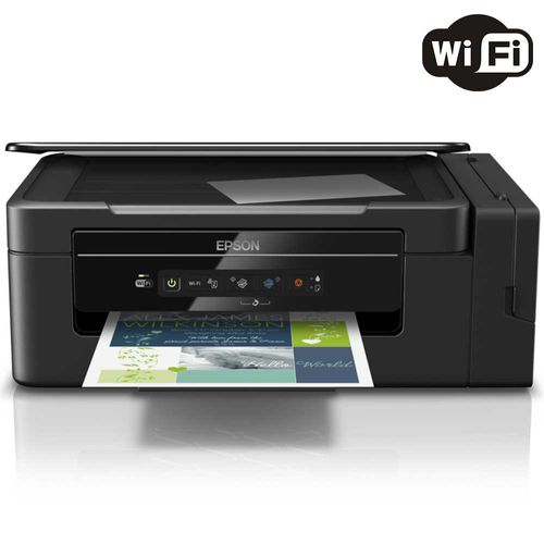 Impressora Multifuncional Epson Ecotank L395 Jato de Tinta Colorida Wireless Bivolt
