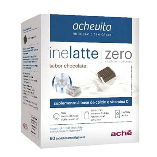 Inelatte Zero Chocolate com 60 Tabletes
