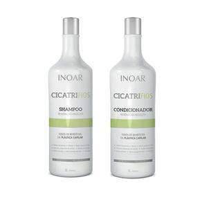 Inoar Cicatrifios Kit - Shampoo 1L + Condicionador 1L Kit
