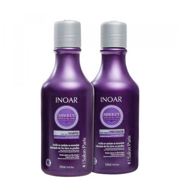 Inoar Kit Absolut Speed Blond Shampoo + Condicionador 250ml