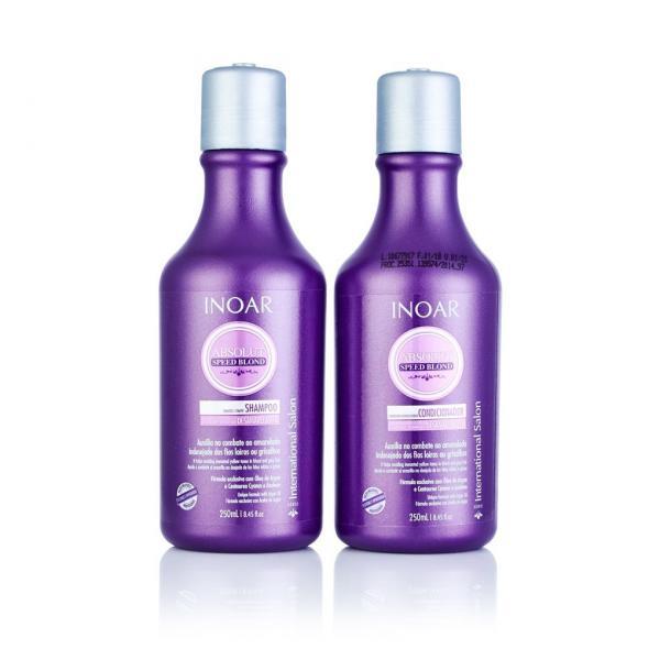 Inoar Kit Absolut Speed Blond - Shampoo e Condicionador 250ml