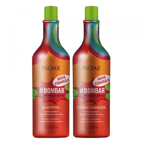Inoar Kit Bombar Shampoo + Condicionador 1l