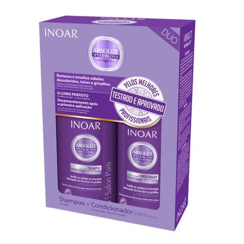 Inoar Kit Duo Speed Blond Shampoo + Condicionador 250ml