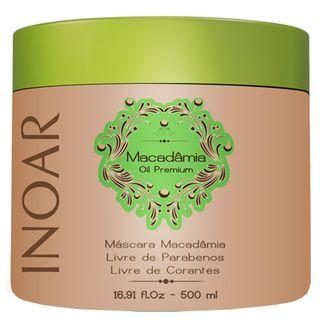 Inoar Macadâmia Oil Premium - Máscara Hidratante 500g