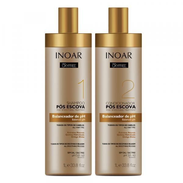 Inoar Pós Escova Oxyfree Kit: Shampoo + Condicionador