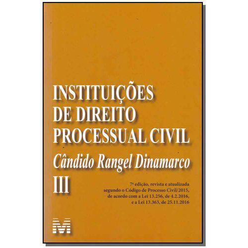 Instituições de Direito Processual Civil-vol.3-7ed/17