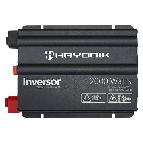 Tudo sobre 'Inversor Onda Modificada 2000W 12VDC 127V Preto Hayonik'