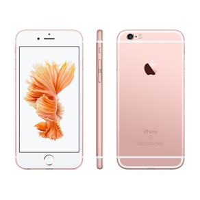 IPhone 6s Apple com 3D Touch, IOS 11, Sensor Touch ID, Câmera ISight 12MP, Wi-Fi, 4G, GPS, Bluetooth e NFC, 32GB, Rose, Tela 4,7""