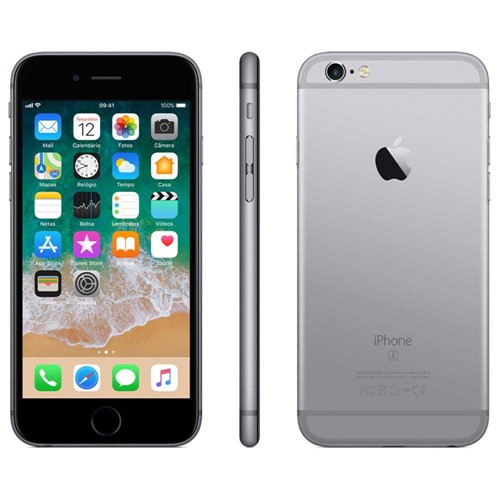 Tudo sobre 'Iphone 6S APPLE MN0W2 Cinza 32 GB'