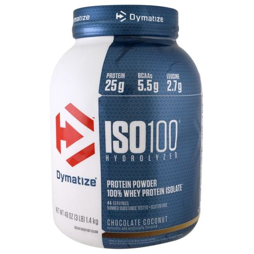 Tudo sobre 'Iso 100 Hidrolized 3 Lbs - Dymatize Nutrition Iso 100 Hidrolized 3 Lbs Chocolate Coconut Dymatize Nutrition'