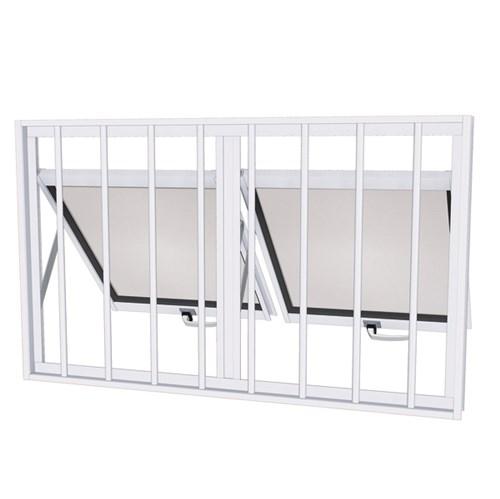 Janela Maxim-Ar Metal Aço Pintado Facilitá 0,60x1,00m Ullian