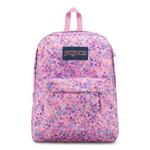 JanSport | Mochila SuperBreak Pink Sparkle Dot