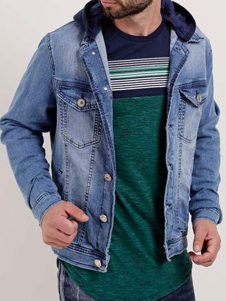 Tudo sobre 'Jaqueta Jeans Masculina Cook's Azul'