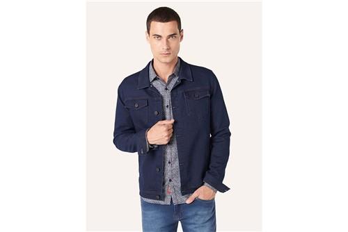 Tudo sobre 'Jaqueta Jeans Moletom Blue Intenso - Azul - P'