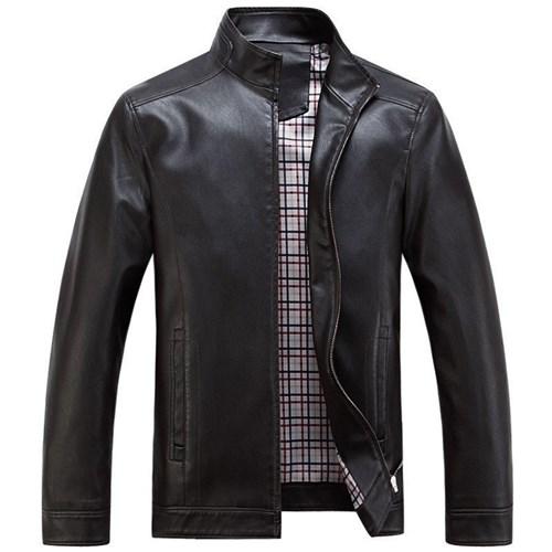 Jaquetas de Couro Masculino (Preto, P)