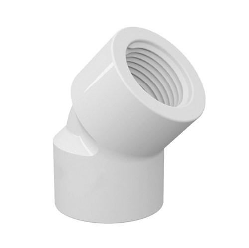 "Joelho 45° Branco PVC Roscável 20mm ou 1/2"" Tigre"
