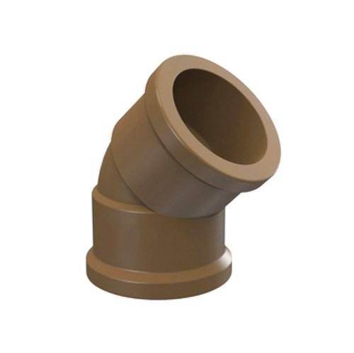 "Joelho 45° Marrom PVC Soldável 20mm ou 1/2"" Plastilit"