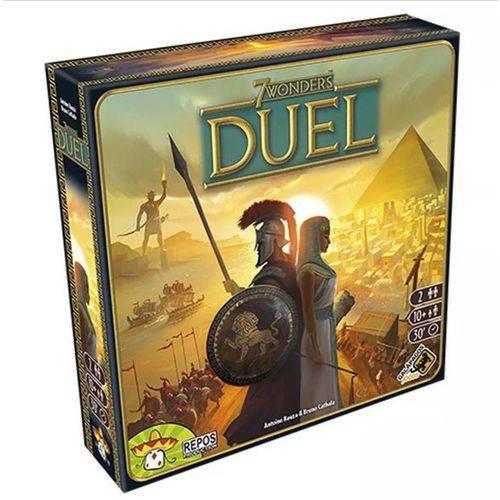 Tudo sobre 'Jogo 7 Wonders Duel Board Game Português Galápagos'