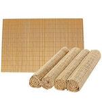 Jogo Americano Bambu com 4 Peças - Cru