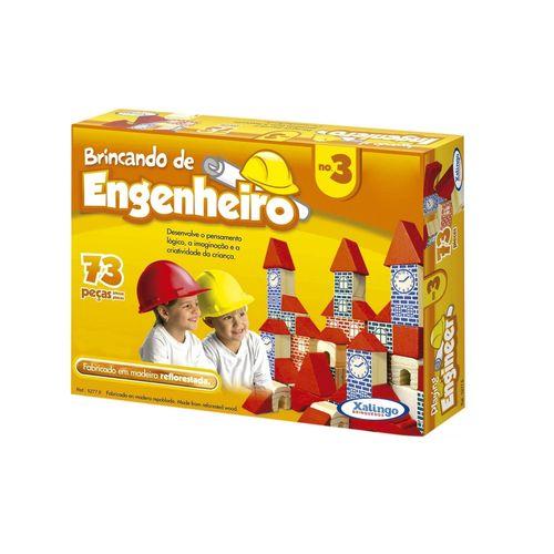 Jogo Brincando de Engenheiro 73 Peças - Xalingo