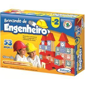 Jogo Brincando de Engenheiro com 53 Peças - Xalingo