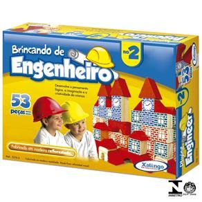 Jogo Brincando de Engenheiro N2 53 Peças 5276.5 Xalingo