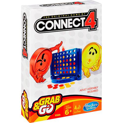 Tudo sobre 'Jogo Connect 4 Grab&Go - Hasbro'