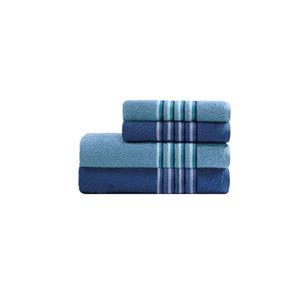 Jogo de Banho 4 Peças - Azul Marinho