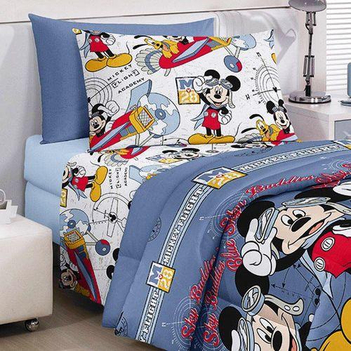 Tudo sobre 'Jogo de Cama Infantil Mickey - Santista Aviador'