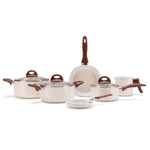 Jogo de Panelas 6 Peças Ceramic Life Smart Plus Vanilla - Brinox