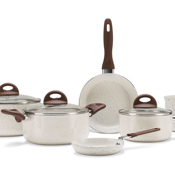 Jogo de Panelas 6 Peças - Ceramic Life Smart Plus - Vanilla Vanilla Brinox