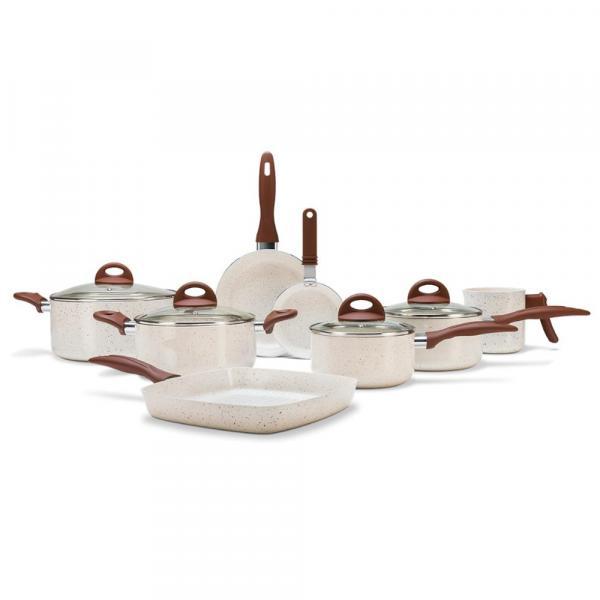 Jogo de Panelas 8 Peças Ceramic Life Smart Plus Vanilla - Brinox
