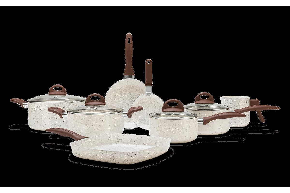 Jogo de Panelas 8 Peças - Ceramic Life Smart Plus - Vanilla VANILLA Brinox