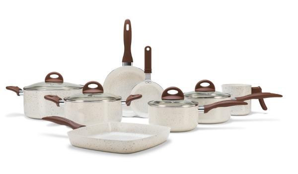 Jogo de Panelas 8 Peças - Ceramic Life Smart Plus - Vanilla - VANILLA Brinox