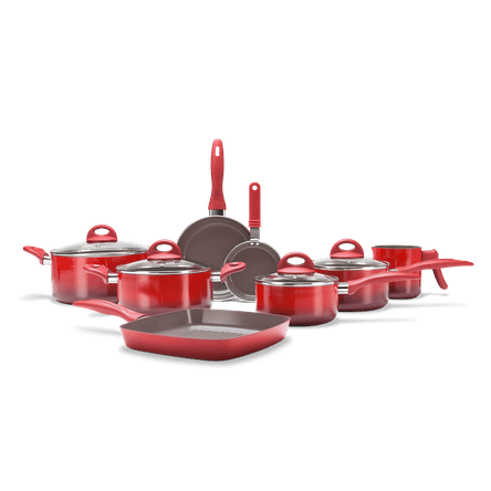 Jogo de Panelas 8 Peças - Ceramic Life Smart Plus - Vermelho Vermelho